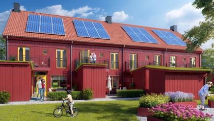 Ombonade radhus i populära Vikaholm, Växjö
