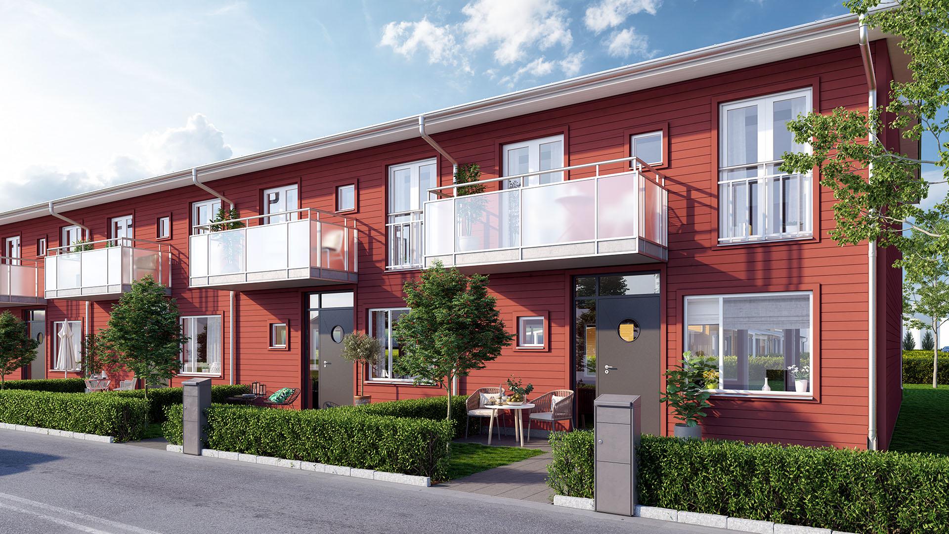 Bostadsrätter som radhus i Hammar, Kristianstad